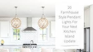 20 farmhouse style pendant lights for