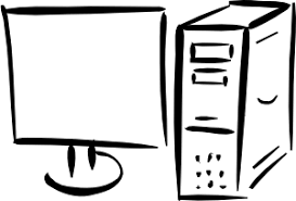 computer clipart black and white. Contemporary And Computer Clip Art For Clipart Black And White P