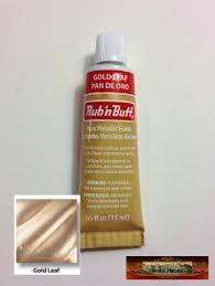 M00196 Morezmore Fresh Amaco Rub N Buff Gold Leaf Wax Metallic