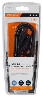 Купить <b>Кабель Vivanco USB</b>-A - <b>USB</b>-B (45206) 1.8 м черный по ...