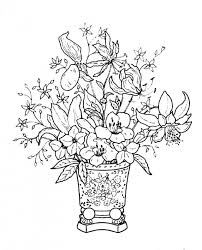 Small Picture Images Of Coloring Pages Of Flowers In Vases And Flower Bouquets
