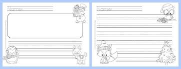 winter lined writing papers the curriculum corner  winter themed lined writing papers from the curriculum corner winter lined papers 2