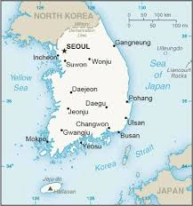 Image result for south korea map