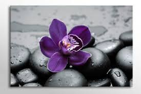 image is loading stunning large canvas wall art grey purple flower  on canvas wall art purple flowers with stunning large canvas wall art grey purple flower calming zen