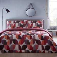 image is loading geometric abstract leaves double duvet cover set grey