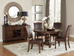 home elegance 5473 54 5 pc lordsburg brown cherry finish wood 54 round dining