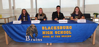 Four Blacksburg Athletes Sign Letters Of Intent