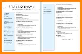 2 Page Cv Template 2 Page Resume Templates Free Download Ndtech Xyz