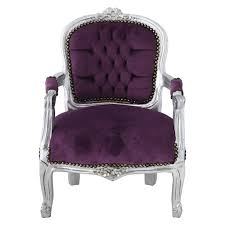 Silver Bedroom Chair Girls Bedroom Silver Leafed Girls Chair In Purple A Must Have For