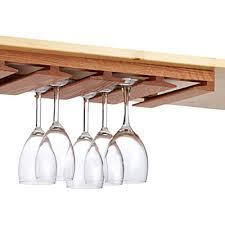 under cabinet wine glass rack. Plain Under Oak Undercabinet Stemware Rack The Container Store Wine Glass Under  Counter Intended Cabinet S