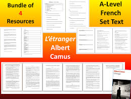 A Level French Literature Letranger 4 Resources