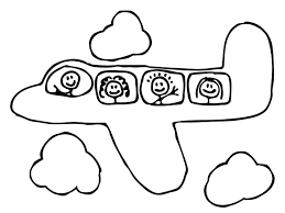 Airplane Coloring Page I M Thinking I Ll Let The Kids Color The