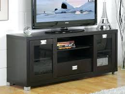 tv stand with glass doors black frosted