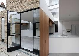 black steel framed doors extension