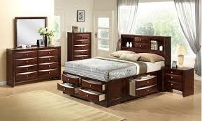 Crown Mark B4255 K Set Emily 4 Pieces Brown King Storage Bedroom Set