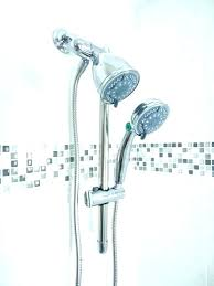 dual arm shower head charming brushed nickel shower head shower arm shower arm head attached images