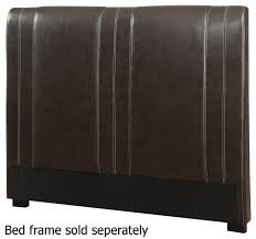 brown leather twin size headboard steal a sofa furniture los angeles ca