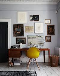 Modern office look Stefes Image Source Lark Linen Get The Look Midcentury Modern Home Office Lark Linen