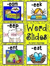 5 word slides for word families eam eek eep ent estgraphics