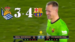 Реал Сосьедад 1-1 Барселона (2-3 по пенальти) Обзор Матча 13.01.2021 -  YouTube
