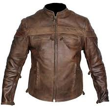 this auction is for brand new solid leather retro brown top grain buffalo hide racer or cafe style motorcycle jacket this has been so popular that i am