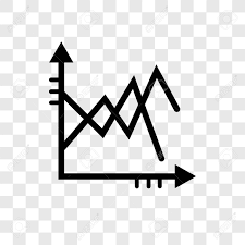 Line Chart Vector Icon Isolated On Transparent Background Line