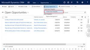 Excel Crm Templates Microsoft Dynamics Crm 2016 Excel Templates Crm Software Blog