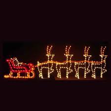 holiday dreams santa sleigh led light display 30 outdoor