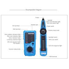 elegiant rj11 rj45 cable tester multifunction wire tracker check it has a wide application reinforced cable types and multiple functions it is a necessary testing tool for telecommunication engineering wiring