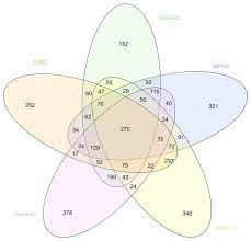 Venn Diagram With 5 Circles Venn Diagram Showing The Overlapping Between The 1500 Best