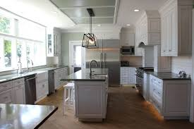 dark gray kitchen cabinets with light walls grey in