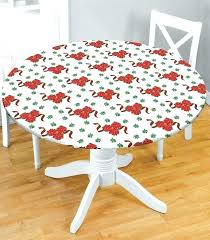 round fitted vinyl tablecloth elasticized fitted vinyl tablecloths round tables
