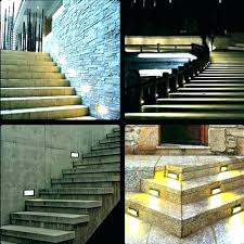 led stair lighting kit. Led Stair Lights Outdoor Interior Step Light Kit Awesome Or Bronze Integrated Round And Luxury Lighting