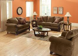 What Living with Color Orange This Lovely Home. Orange And Brown Living  Room. Home