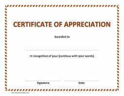 Sample Blank Certificate Of Recognition Best Award