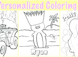 Customized Coloring Pages Personalized Coloring Pages Personalized