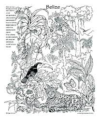 Rainforest Animals Coloring Pages Pdf Coloring Page Of Animals