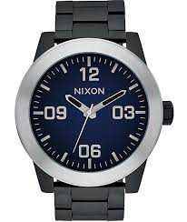 nixon watches get shipping at zumiez bp nixon corporal ombre black blue watch