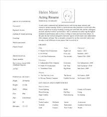 Theatre Resume Awesome Theatre Resume Templates Musical Theatre Resume Template Musical