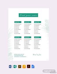 Wedding Reception Seating Chart Template Word Free Wedding Reception Seating Chart Template Pdf Word