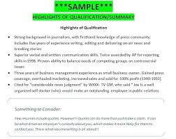 Summary Of Qualifications Examples For Resume Russiandreams Info