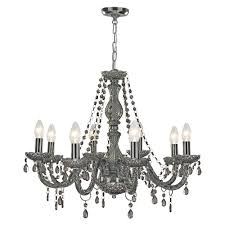 Searchlight 86988gy marie therese 8 light smoked glass chandelier