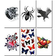 491 6 Ks Tygr A Spider Smíšené Dočasné Tetování