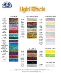 Dmc Embroidery Floss Chart Details About Dmc Light Effects Thread One Each Colour Embroidery Floss 36 X 8m Skeins