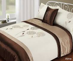 beautiful looking white and brown duvet cover red sweetgalas 5 piece quilt bedding bed set embroidered black blue
