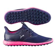 puma golf shoes. puma golf ladies ignite spikeless shoes - peacoat/pink