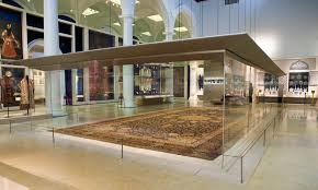 the ardabil carpet on display in the jameel gallery v a