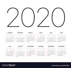 2020 Calendar Editable 2020 Year Calendar Template Editable Layout