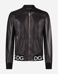 Dolce And Gabbana Jacket Size Chart Mens Jackets And Bombers Dolce Gabbana Leather Jacket With Logo Band