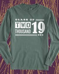 Trendy Shirt Designs 2018 Class Of 2019 Vintage Long Sleeve Tee Design Idea For